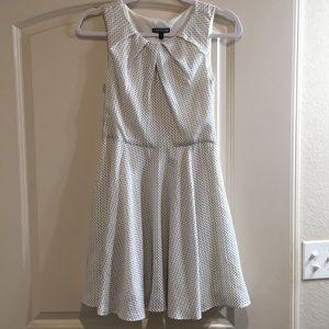 EXPRESS Sleeveless Dress White & Black Flirty